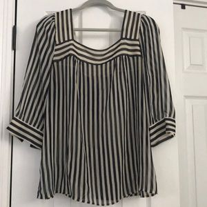 Navy and white striped blouse - Urban Outfitters